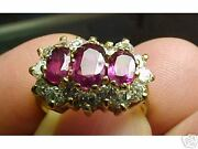 Vintage Ruby And Vs Diamond Ring 14k Gold Size 6