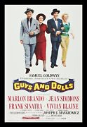 Guys And Dolls Cinemasterpieces 1sh Original Rolled Movie Poster 1955