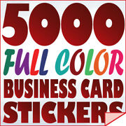 5000 Full Color Custom Business Card Stickers Label Printing With Uv Gloss