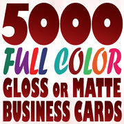 5000 Full Color Custom Business Card Printing On A 16pt Gloss Or Matte Finish