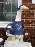 Goose Clothes 4 Lawn Goose Texans Football Cement Plastic Red White, Blue Cotton