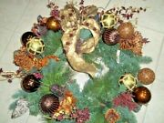 Frontgate Palazzo Prelit Holiday Glass Ornament Christmas Door 32 Wreath 41872