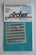 Archer 1/35 Waffen-ss Shoulder Boards For Artillery And Stug Units Wwii Fg35043c