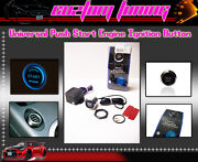 Universal Push To Start Engine Electric Ignition Start Button Switch Blue Led
