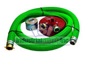 3 Epdm Pin Lug Suction Hose Kit W/100and039 Red Discharge Hose Fs