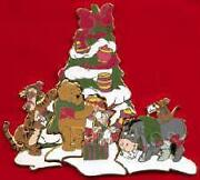 Disney Dl Pooh Bear And Friends Holiday Puzzle Boxed Set From Pin