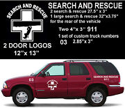 Sar Search And Rescue Deluxe Emergency Response Truck Decal Set