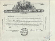 Coca-cola Intand039l Corp Proof W/ Product File Correspondence Common Stock Hv702