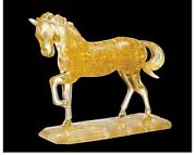 Crystal Gallery Puzzle 3d Golden Horse Big Series - Japan Toy New Beverly