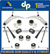 Front + Rear Axle Control Arms Ball Joints Tie Rods Suspension Kit For Bmw E46