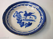 Vintage Blue Cobalt Ceramic Clay Art Plate...See Picture