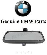 For Bmw E46 3-series Inside Rear View Mirror W/ Led For Alarm System Genuine