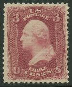 79-e15b 3c 1867 Essay On Stamp Paper All-over Grill F/vf Nh Pencil Mark Hv1366