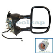 99-07 F-series Super Duty Truck Tow Mirror Power Dual Arm Telescopic Right Side