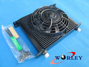 30 Row Engine/transmission Oil Cooler + 7 Electric Fan