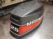 Early 80s Mariner 25 Hp 2 Cylinder Hood Top Cowl Cowling Shroud Freshwater Mn