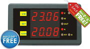 Dc 90v 30a Combo Meter Volt Amp Battery Capacity Power Timer Limit Protection