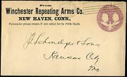 Winchester Repeating Arms Co Advt Cover Pmk 1893 New Havenct W/ Grid Cnl Bp2367
