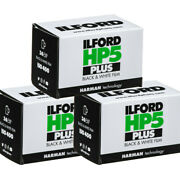 3 Pack Ilford Hp5 Plus Black And White Iso 400 36 Exposure 35mm Film Fresh