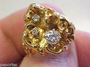 New Old Stock Diamond Ring 14k Gold Size 6 Beautiful Make Offer