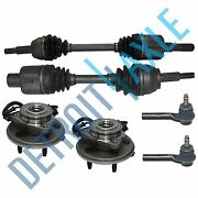 6pc Front Wheel Hub And Bearing Cv Axle Outer Tie Rod Suspension Kit - 4x4 Only
