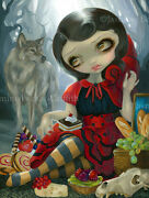 Jasmine Becket-griffith Art Big Print Signed Red Riding Hood's Picnic Fairytale
