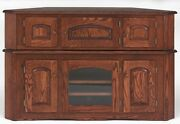 2898 Solid Wood Country Oak Corner Tv Stand
