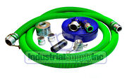 2 Epdm Mud Suction Hose Comp. Camlock Kit W/100and039 Blue Discharge Hose Fs