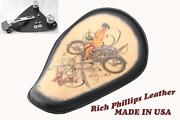 Motorcycle Spring Seat Sportster Harley Chopper Bobber 48 Rich Phillips Leather