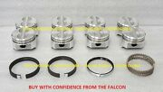 Chevy 5.0/5.0l/305 Sealed Power Cast Flat Top Pistons+cast Rings Set/kit +.040