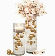 Floating Gold Pearls-no Hole Jumbo/assorted Sizes Vase Decorationsandtable Scatter
