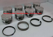 Speed Pro/trw Ford/mercury 351c Forged Coated Flat Top Pistons+moly Ring Kit +40