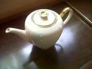 Rosenthal Kpm Krister Porcelain White And Gold Coffee Pot Germany