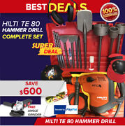 Hilti Te 80-atc Avr New Free Grinder Survival Knifebits And Chisels Fast Ship