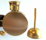 Vintage Small Perfume Bottle With Dobber And Original Pouch Very Cute Estate