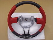 Scion Fr-s Toyota 86 Gt86 Zn6 Red Leather Steering Wheel Genuine Oem Part 12-15
