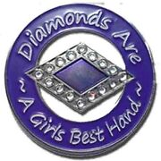 Diamonds Are A Girls Best Hand Poker Spinner Card Guard Card Protector W/case