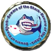Beware Of The Shark Spinner Poker Card Guard Cover Protector New W/case