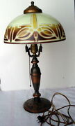 Highly Sought After Plandb Co Pittsburgh Pilabrasco Art Nouveau Table Lamp