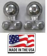 2 Pc Universal Side Mount Battery Terminal Solid Lead Oem Deka 192 Made In Usa