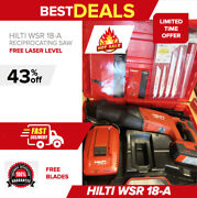 Hilti Wsr 18-a Reciprocating Saw Brand New Battery Included Fast Shipping
