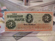 The Bullion Bank 2.00 Note 1862 Obsolete Currency Large Size Note  Make Offer