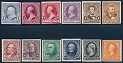 219p4-229p4 Vf Plate Proofs On Card 1890-1893 Issue Vf+ Cv 785.00 Hv6570