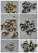 20 - 200 Lobster Clasps In Silver Black Rose Gold Bright Silver 12mm X 6mm