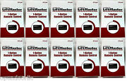 371lm 10-pack Liftmaster Chamberlain Craftsman Remote 372lm 373lm 950cd 953d