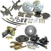 1967-1972 Gm A-body Front And Rear Disc Conversion Kit With 2 Drop Spindles