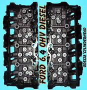 Pair Ford 6.4 Powerstroke V8 Twin Turbo Diesel F350 Truck Cylinder Heads