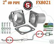 Fx8021 2 Od Universal Quickfix Exhaust Square Four Bolt Flange Repair Pipe Kit