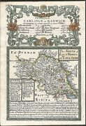 Antique Map, North And East Riding Of Yorkshire / Road - Cambridge To Coventry 2