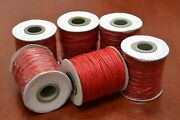 6 Rolls - 600 Meters Red Waxed Cotton Beading Cord String Roll 1mm F-51i